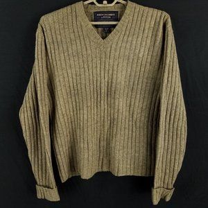 Abercrombie & Fitch Wool Ribbed V-Neck Sweater